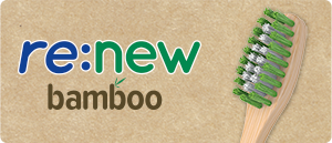 re:new Bamboo Toothbrush page button
