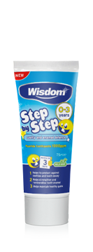 Step by Step 0-3 years Cavity & Enamel defence fluoride toothpaste 75ml