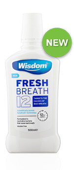 Fresh Breath 12 Alcohol Free mouthwash 500ml