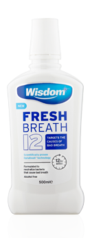 Fresh Breath 12 Alcohol Free mouthwash 500ml